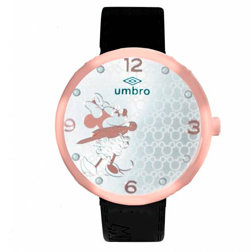 Reloj Análogo Oro rosa-Negro Umb-Mm01-1