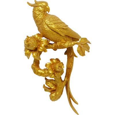 Decoración pared Parrot oro 50 cm