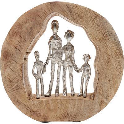 Objeto decorativo Family In Log