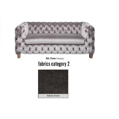 Sofá, 3 puestos, My Desire, tela 2 - Astoria Black (245x68x100cms)