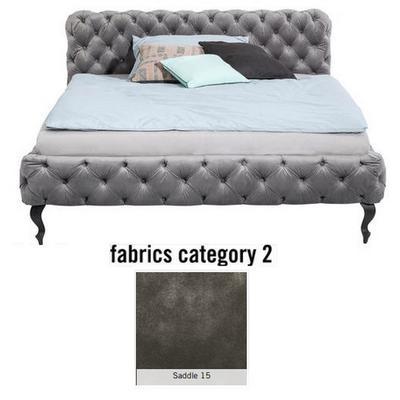 Cama Desire, tela 2 - Saddle 15,  (100x197x228cms), 180x200cm (no incluye colchón)