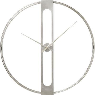 Reloj pared Clip plata Ø60cm
