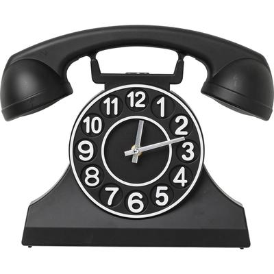 Reloj pared Telephone negro