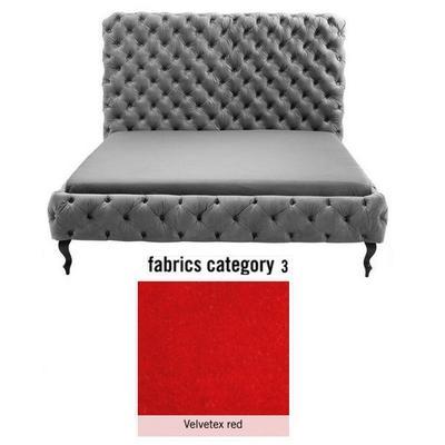 Cama (Alta) Desire, tela 3 - Velvetex Red, (135x197x228cms), 180x200cm (no incluye colchón)