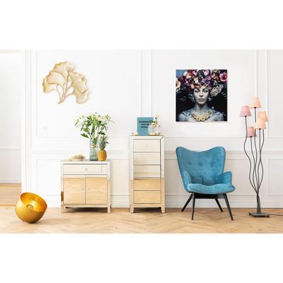 Cuadro cristal Flower Art Lady 80x80cm