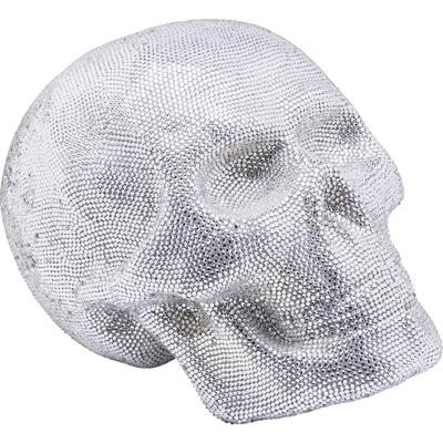 Cabeza decorativa Crystal Skull plata grande