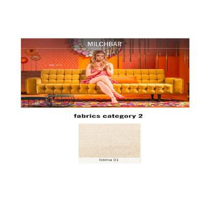Sofá, 3 puestos, Milchbar, tela 2 - Istinia 01  (230x72x80cms)