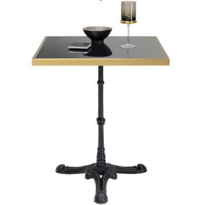 Mesa Bistró Kaffeehaus Rim cuadrado negro 57x57cm