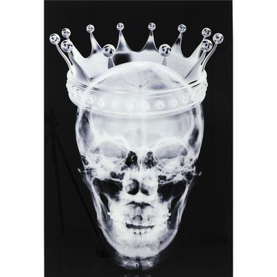 Cuadro cristal Crown Skull 120x80cm