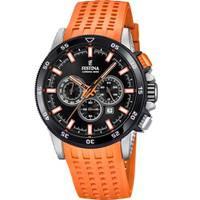 Reloj analógico negro-naranja 53-6