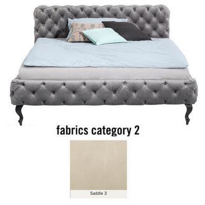 Cama Desire, tela 2 - Saddle 3,  (100x217x228cms), 200x200cm (no incluye colchón)