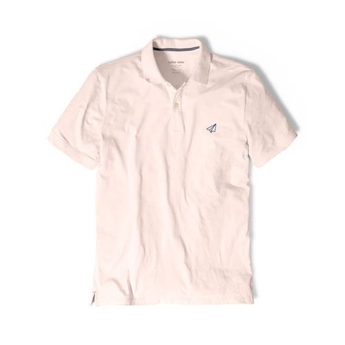 Polo Color Siete Para Hombre Rosado - Avion de Papel