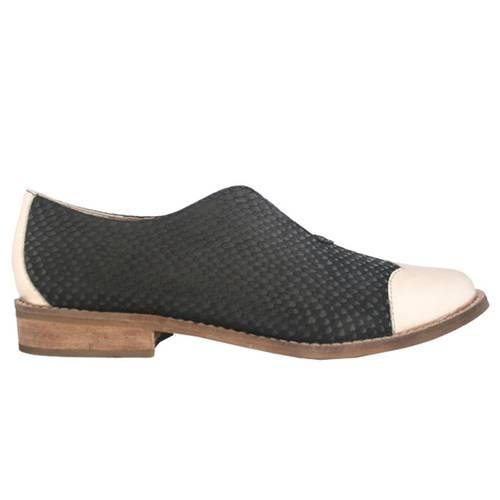 Zapato Verona Folia Oro X Escama Negro