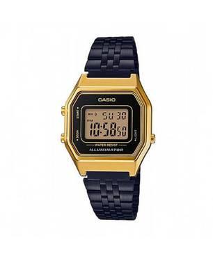 Reloj retro digital dorado-negro B-1A