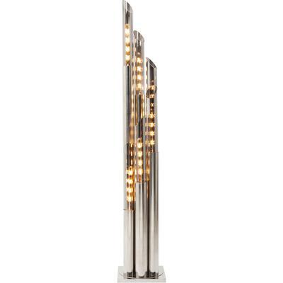 Lámpara pie Pipe cromo 175cm