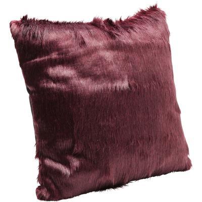 Cojines Ontario Fur rojo oscuro 60x60