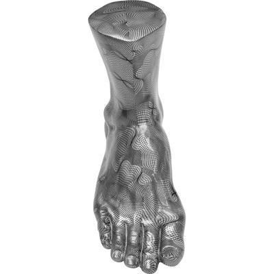Objeto decorativo Foot gris