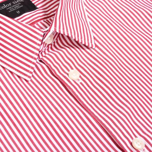 Camisa Thompson Rayas - Rojo