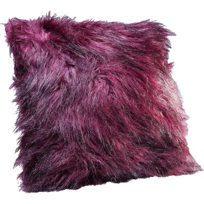 Cojín Ontario Fur Dark rojo 45x45cm