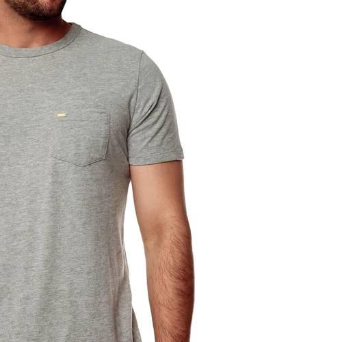 Camiseta Color Siete Para Hombre  - Gris