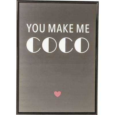Cuadro You Make Me Coco 42x30cm