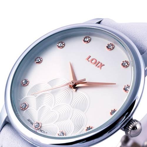 Reloj Blanco - Plateado - L1113-07