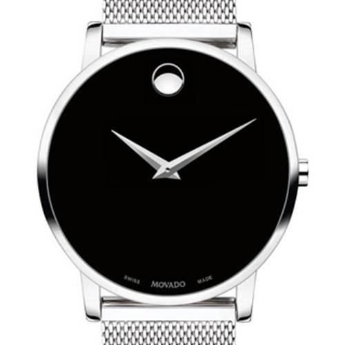 Reloj análogo negro-plateado 7219
