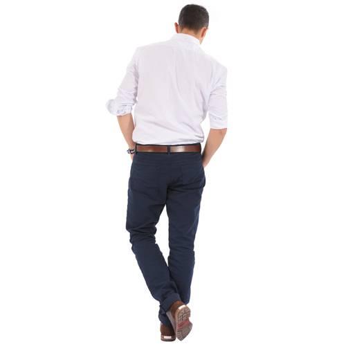 Camisa Manga Larga Wainscott Jack Supplies para Hombre- Blanco