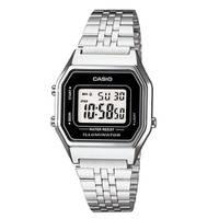 Reloj digital negro-plateado A-1D
