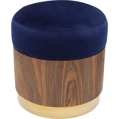 Taburete Lilly azul Ø39cm