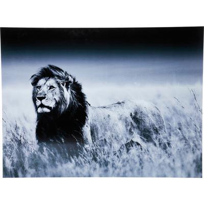 Cuadro cristal Lion King de pie 120x160cm