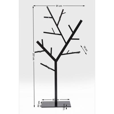 Perchero pie Technical Tree negro