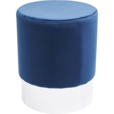 Taburete Cherry azul plata Ø35cm