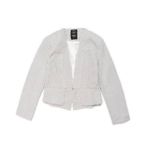 Blazer Color Siete Para Mujer - Blanco