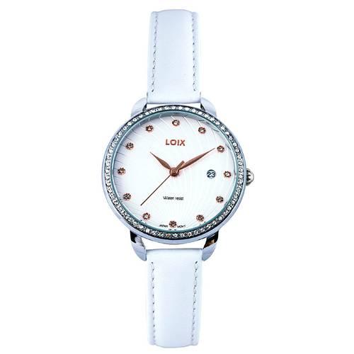 Reloj Blanco - Plateado - L1114-07