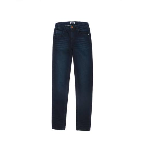 Jean Super Skinny Color Siete Para Mujer  - Azul