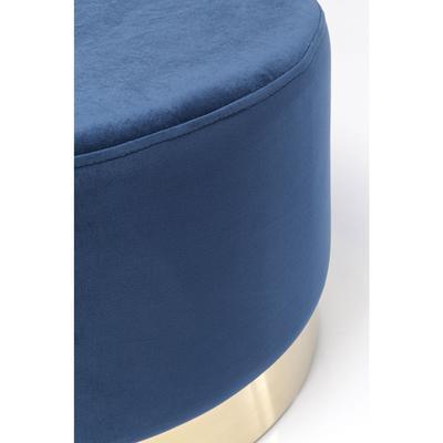 Taburete Cherry azul latón Ø55cm