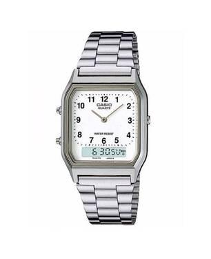 Reloj Análogo Blanco-Plateado A-7B - Casio