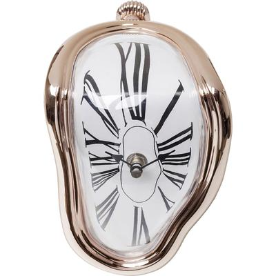 Reloj mesa Flow rosa dorado