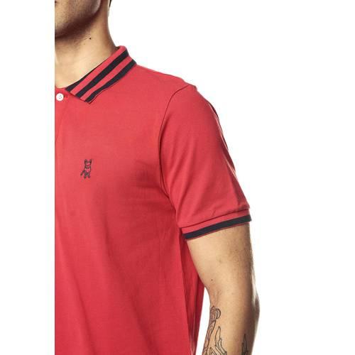 Camiseta tipo Polo Jack Supplies para Hombre-Rojo