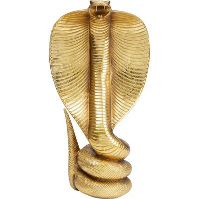 Objeto decorativo Cobra oro 42cm