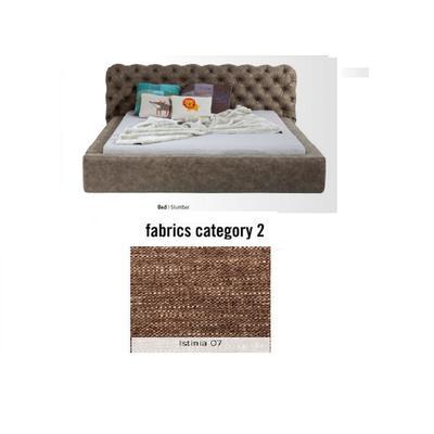 Cama Slumber,  tela 2 - Istinia 07,   (87x208x239cms), 160x200cm (no incluye colchón)