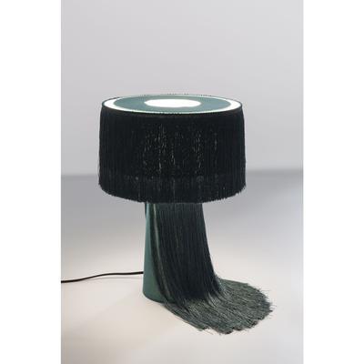 Lámpara mesa Fringes verde