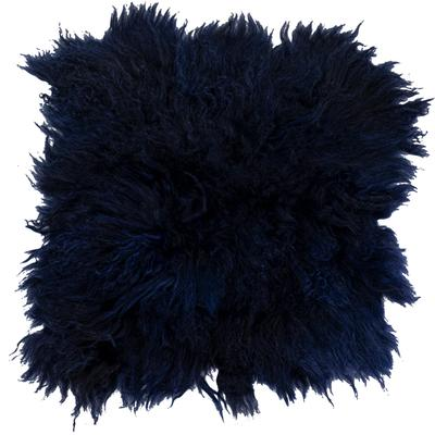Cojín asiento Lammfell azul 40x40cm