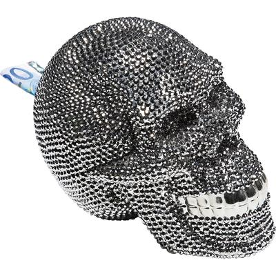 Alcancía Skull Crystal plata