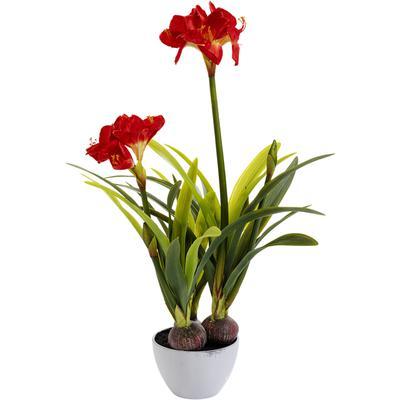 Planta decorativa Amaryllis rojo 98cm