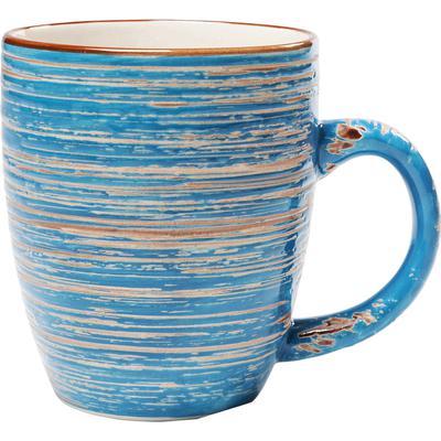 Taza Swirl azul