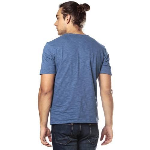 Camiseta Color Siete para Hombre-Azul
