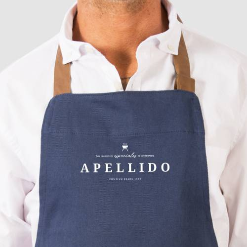 Delantal Color Siete Pierotti - Azul