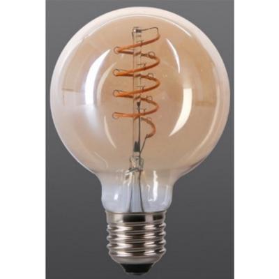 Bombilla de filamento LED ámbar Forma G95 - Rosca E27 - Luz Cálida - Dimerizable